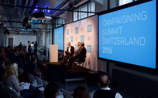 Reger Austausch am Campaigning Summit Switzerland 2016. (Bild: Campaigning Summit)