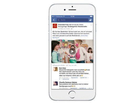 Das Ostervideo für Chocolat Frey erfreut sich aktuell bei Facebook grosser Beliebtheit. (Bild: Serranetga AG)