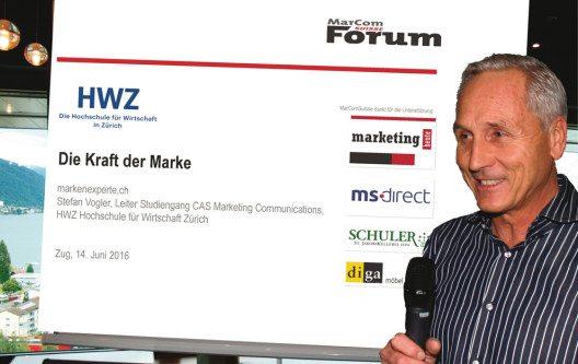 Beim Ausblick freute sich der Präsident von MarComSuisse, Dr. Matthijs Ouwerkerk über die rege Teilnahme und das bevorstehende Forum im September. (Bild: MarComSuisse)