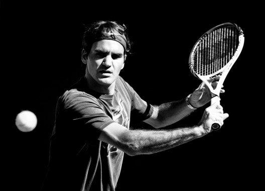 "Roger Federer stellte den neuen Schläger ""Pro Staff RF 97 Autograph"" vor. (Bild: © Neale Cousland - shutterstock.com)"