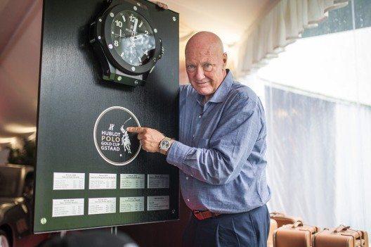 "Jean-Claude Biver präsentiert die Classic Fusion ""Chukker"". (Bild: © Hublot International)"
