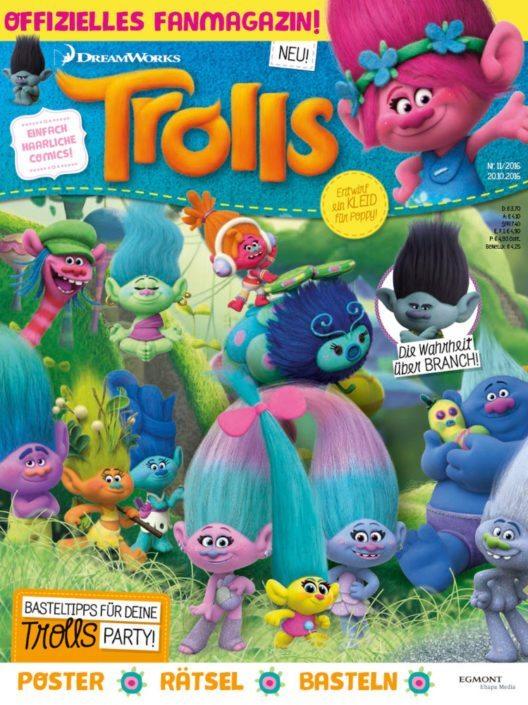 """Das neue Trolls Magazin - ab 20.10. am Kiosk! Weiterer Text über ots und www.presseportal.de/nr/8146 / Die Verwendung dieses Bildes ist für redaktionelle Zwecke honorarfrei. Veröffentlichung bitte unter Quellenangabe: """"obs/Egmont Ehapa Media GmbH/Egmont Ehapa Media / DreamWorks"""""""