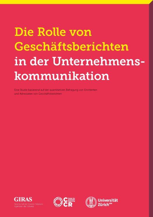 Studie zur Rolle von Geschäftsberichten (Bild: obs/GIRAS/CCR/UZH)