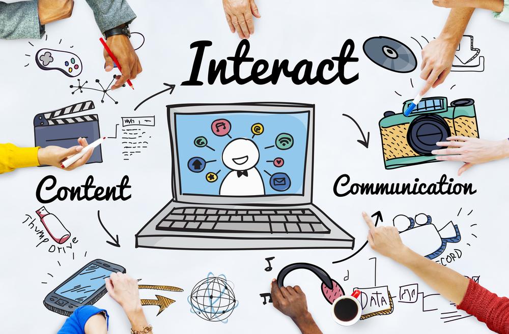 Interaktion auf einer Website